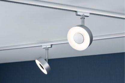 nowoczesne oświetlenie szynowe srebrne