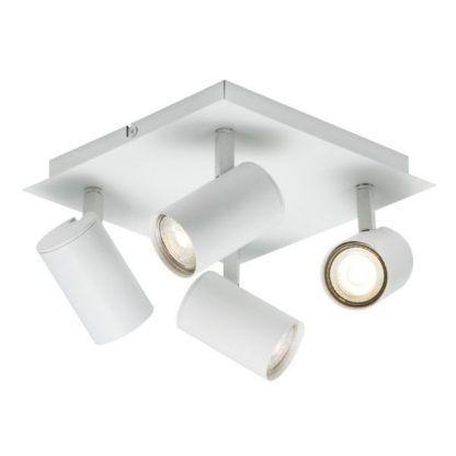 lampa natynkowa z 4 reflektorami - biała nowoczesna