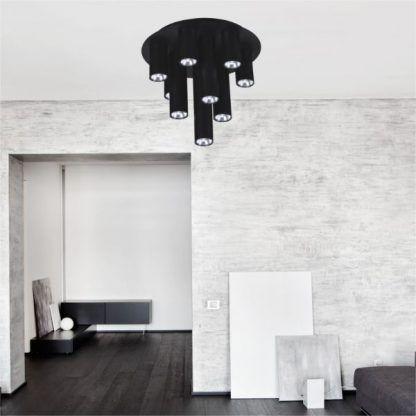 Lampa sufitowa Mile do pokoju dziennego