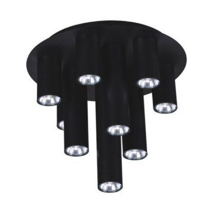 czarna lampa sufitowa różne tuby