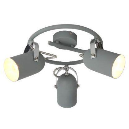 lampa sufitowa szare reflektory industrialna