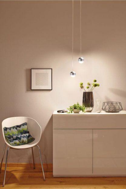 nowoczesne lampy wiszące nad komodę aranżacja