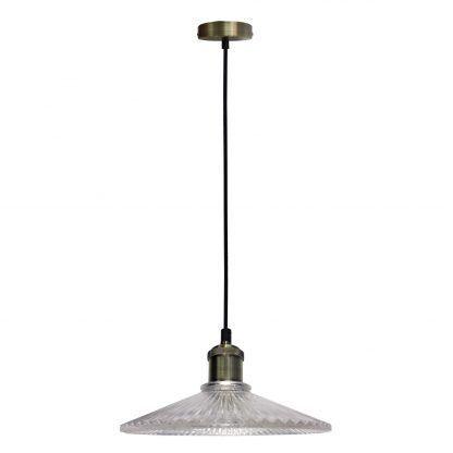 szklano kryształowa lampa wisząca do salonu
