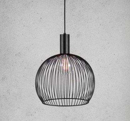 lampa wisząca czarna - nowoczesny druciak
