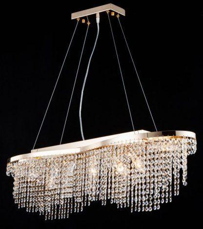 lampa wisząca do jadalni nad stół - kryształki