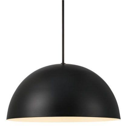 czarny klosz indsutrialny lampa wisząca