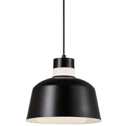 czarno biała lampa wisząca nowoczesna