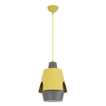 szaro żółta lampa dekoracyjna do pokoju dziecięcego
