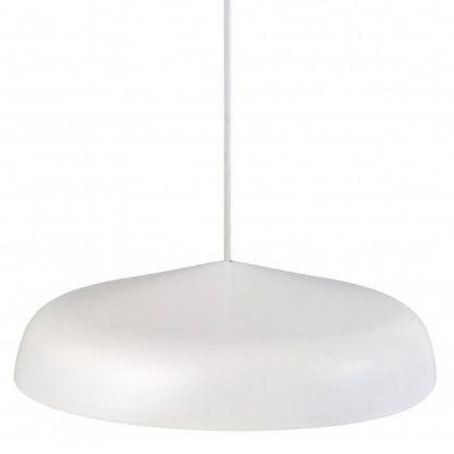 biały klosz lampy wiszącej led