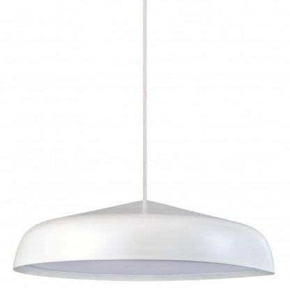 biała lampa - nowoczesny klosz led