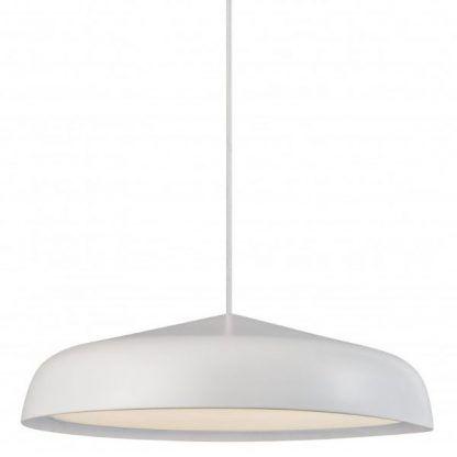 ledowa lampa wisząca biała nowoczesna