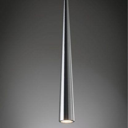 lampa wisząca z wąskim stożkowym kloszem