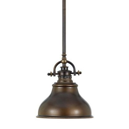 lampa wisząca industrialna - brązowa kuchnia