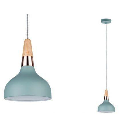 turkusowa lampa do kuchni styl skandynawski