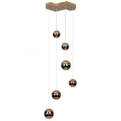 lampa wisząca kaskada metaliczne kulki