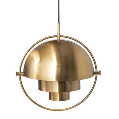 lampa wisząca złota kula geometryczna
