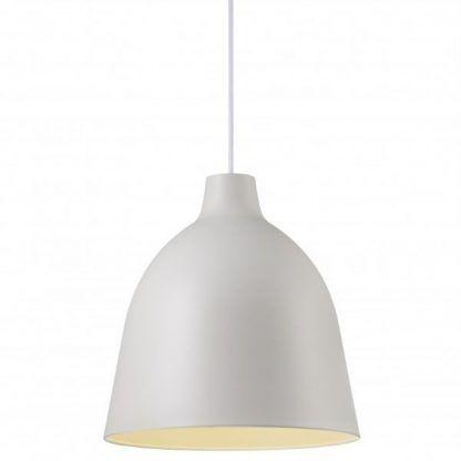 lampa wisząca - prosty klosz w białym kolorze