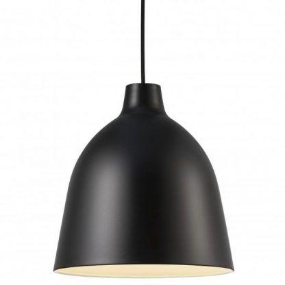 nowoczesna lampa z czarnym kloszem - do salonu