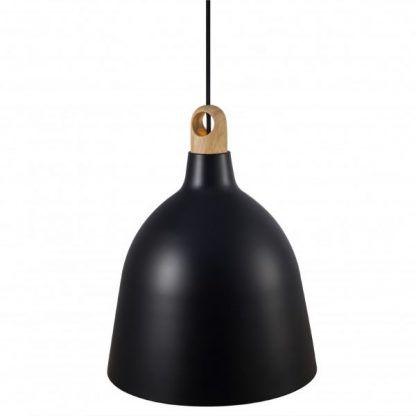 skandynawska lampa wisząca w czarnym kolorze