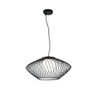 Lampa wisząca Plec z drucianym kloszem do kuchni