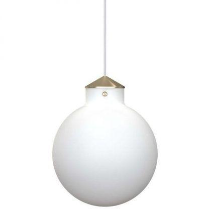 biała szklana kula - lampa wisząca dekoracyjna