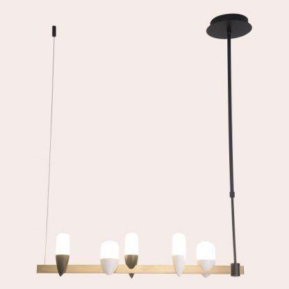 Lampa wisząca Sakai do oryginalnego salonu