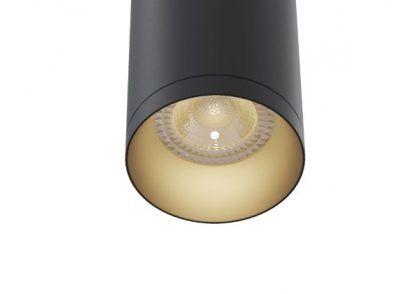czarna lampa wisząca tuba