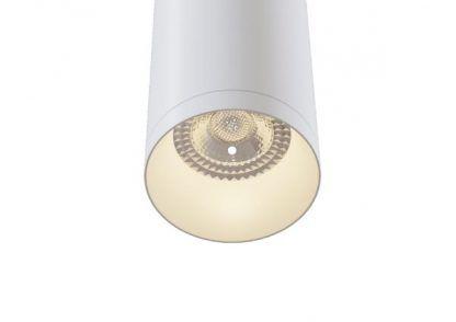 biała lampa wisząca tuba