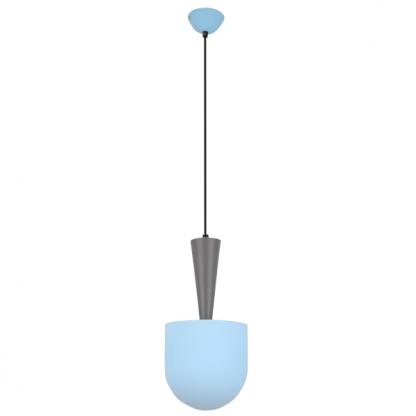 szaro niebieska lampa wiszaca nad stół