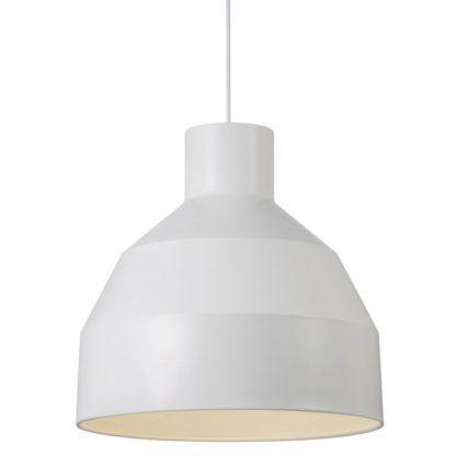 biały oryginalny klosz - lampa wiszaca do jadalni