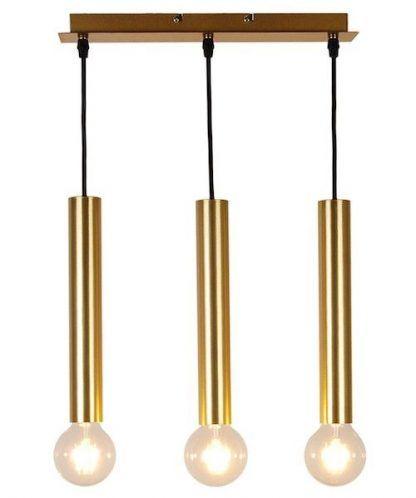 lampa z trzema długimi złotymi tubami