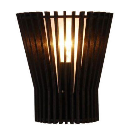 lampka stojąca do sypialni - nocna z ażurowymi listwami