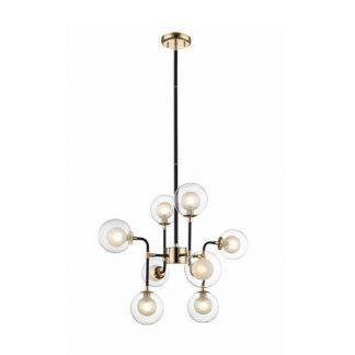 loftowa lampa molekularna nad stół