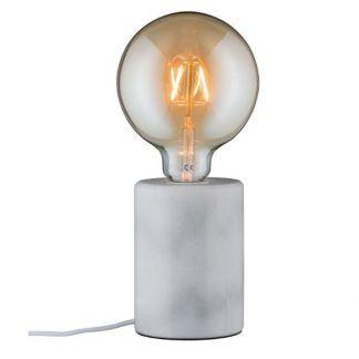 marmurowa lampa stołowa na żarówkę