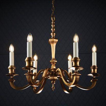 mosiężny żyrandol eleganckie świeczniki do salonu