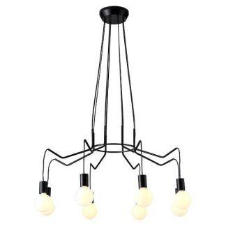nowoczesny czarny żyrandol pająk