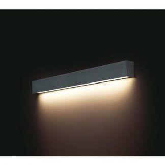 nowoczesny podłużny kinkiet nad lustro