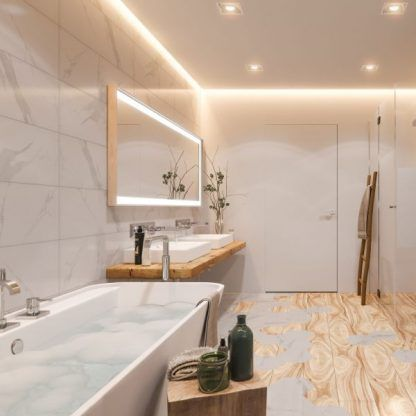 oczka ledowe w łazience - aranżacje i zdjęcia