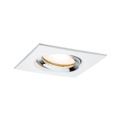 kwadratowe oczko sufitowe biało-srebrne