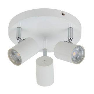 okrągła biała lampa sufitowa 3 reflektorki