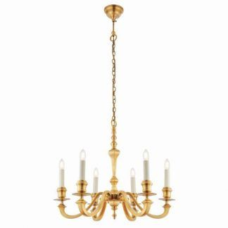 piękny klasyczny i elegancki żyrandol do salonu - złoty