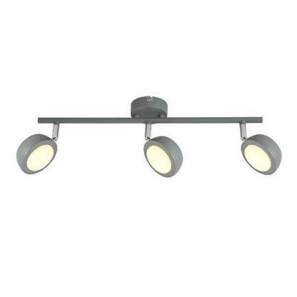 podłużna szara lampa sufitowa na 3 klosze