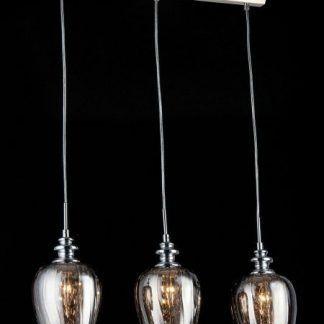 potrójna lampa wisząca - piękne szklane klosze do jadalni