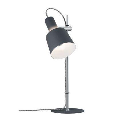 prosta lampa biurkowa czarny klosz