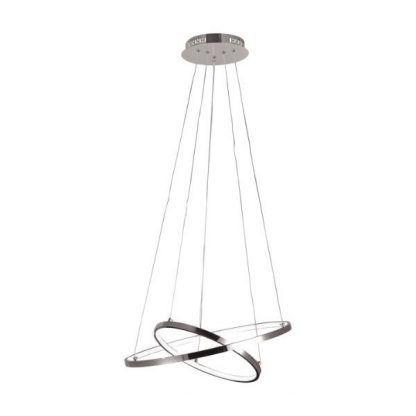 srebrna lampa wisząca ringi led