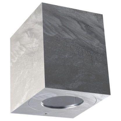 kinkiet zewnętrzny szary na ścianę domu - led