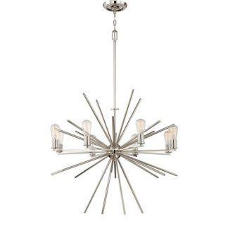srebrny żyrandol led nowoczesny do salonu
