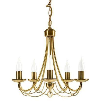 świecznikowy złoty żyrandol klasyczny
