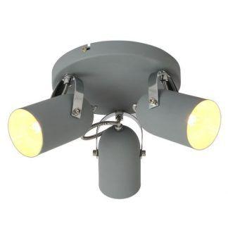 szara industrialna lampa sufitowa reflektory