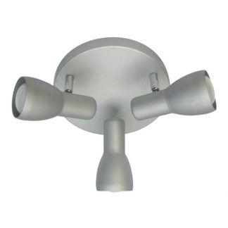 szara potrójna lamp sufitowa okrągła